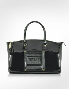 Versace Versace Jeans - Patent Eco Leather Satchel