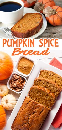 Perfect with a cup of coffee or tea, this easy Pumpkin Spice Bread is a yummy quick bread to enjoy all through the holidays. Just Desserts, Dessert Recipes, Pumpkin Spice Bread, Dessert Bread, Pumpkin Dessert, Baking Recipes, Bread Recipes, Holiday Baking, Pumpkin Recipes