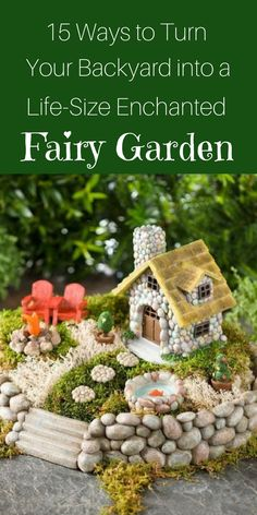 Fairy Gardens have become super popular over the past few years. Here's how to can turn your backyard into a magical place.