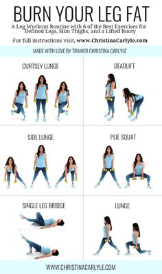 Leg workout routine for women. Burn calories and shed leg fat with this effective and quick home workout routine. Source by The post The Best Leg Workout For Women to Lose Leg Fat appeared first on Roisin Health Fitness. Leg Workout Women, Best Leg Workout, Leg Workout At Home, Workout Routines For Women, Home Exercise Routines, At Home Workouts, Ab Workouts, Workout Plans, Post Workout