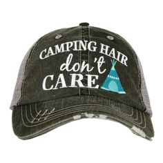 29d01797133 Katydid Camping Hair Don t Care Wholesale Trucker Hats Women Camping