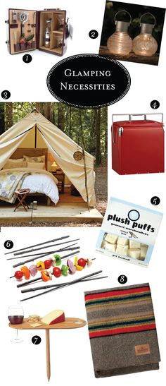 I can camp with the best of em. ... but this glamping? Seems wonderful for an anniversary weekend. Set this up and surprised your spouse!