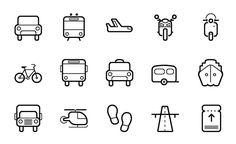 15 Transportation Vector Icon http://freevectorsite.com/business-vector-icon-set/