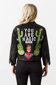 Denim and Bone 'You Are Magic' embroidered vintage denim jacket