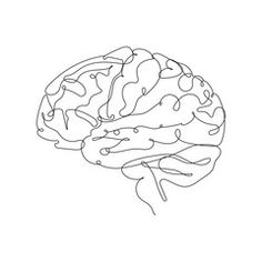Continuous Line Drawing. Brain One Line Illustration. Vector EPS - Buy this stock vector and explore similar vectors at Adobe Stock Line Drawing Tattoos, Contour Line Drawing, Line Tattoos, Contour Drawings, Drawing Tips, Brain Drawing, Brain Art, Drawing Faces, Gesture Drawing