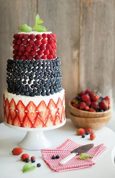 a very BERRY birthday cake