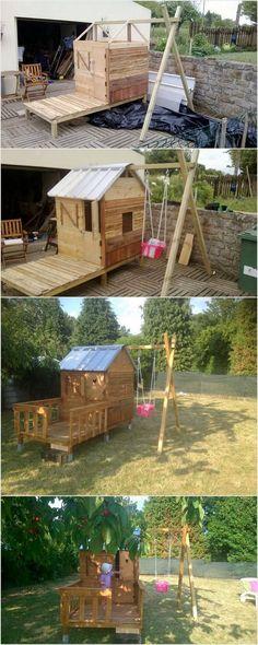 Cabane en bois pour enfant Jesse de Axi Beautiful playhouse for - Maisonnette En Bois Avec Bac A Sable