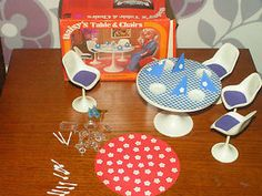 Vintage RARE Mary Quant Daisy Doll Dolls House Table Chairs Glasses Boxed | eBay