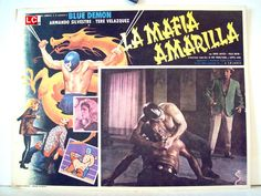 LA MAFIA AMARILLA/1975/RENÉ CARDONA/BLUE DEMON/51147/MEXICAN LOBBY CARD