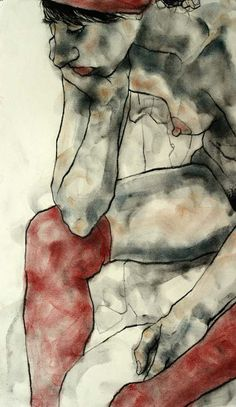phillipdvorak:  One of my figure drawings - charcoal and pastel on paper (20 minute pose).