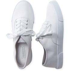 Aeropostale Neutral Low-Top Sneaker (320 MXN) ❤ liked on Polyvore featuring shoes, sneakers, tenis, flats, aeropostale shoes, flats sneakers, flat shoes, grip shoes and low profile shoes