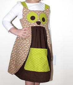 Finally a tutorial for the owl dress.  Need to learn to sew better so I can make it for M!