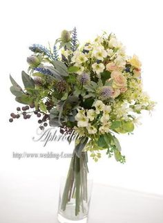 One idea for bouquet Modern Wedding Flowers, Wedding Flower Arrangements, Bridal Flowers, Love Flowers, Dried Flowers, Wedding Bouquets, Floral Arrangements, Wedding Colours, Wedding Centerpieces