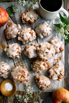 Apple Fritters with Salted Maple Glaze - The Original Dish
