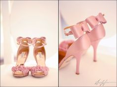 Badgley Mischka Lelah - Rose Satin Pink Wedding Shoes. Perfect. www.hoffmannphotographer.com