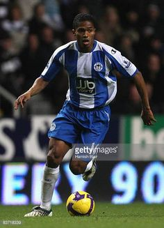 Antonio Valencia of Wigan in action during the Barclays Premier League match between Newcastle United and Wigan Athletic at St James' Park on...