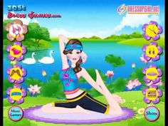 Barbie Yoga Teacher Game. Play game at http://www.y7games.info/barbie-yoga-teacher%20.html. Barbie has discovered yoga as a great alternative to going to the gym and she likes it so much that she has become a yoga teacher. Mix and match the tops with the right bottoms and accessories, and pick a mat to lie on as well. Have a great time playing this dress up game!