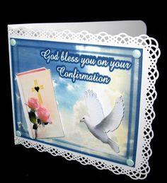 - A card to say God bless you on your Confirmation. Punched Card, Confirmation Cards, Sticky Pads, Candy Cards, God Bless You, Perfect For Me, Centre, Jackson, Blessed