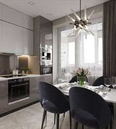 Modern home decor kitchen – Southern Home Decor Simple Kitchen Design, Kitchen Room Design, Home Decor Kitchen, Interior Design Kitchen, Home Kitchens, Küchen Design, Flat Design, House Design, Modernisme