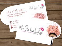 Cartão de Visita Personalizado - MakeUp, Maquiadora.