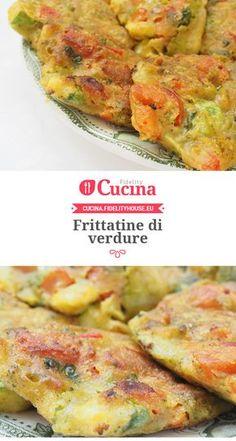 #Frittatine di #verdure Veg Recipes, Light Recipes, Italian Recipes, Vegetarian Recipes, Cooking Recipes, Healthy Recipes, Healthy Finger Foods, Healthy Eating, Antipasto