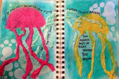 Art journal. Dylusions, tissue, and mod podge.