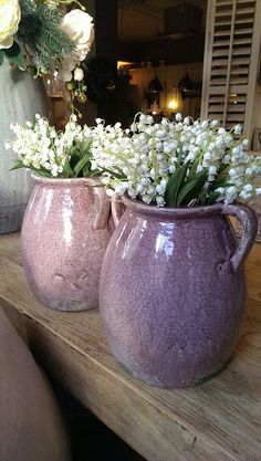 OH!! - I LOVE THESE DIVINE JUGS, USED TO DISPLAY THE EQUALLY DIVINE FLOWERS!!