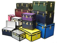 The full Traditional range of Vintage style Mossman Storage & Luggage Trunks.