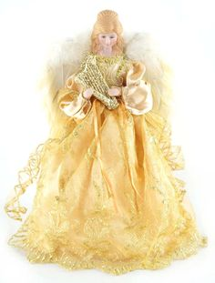 12'' Gold Angel Tree Topper ($17.99)