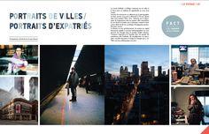 Parution magazine Opium, Les sens du voyages : Portraits de Villes, Portraits d'Expatriés, Alfredo Brant et Hugo Hébrard