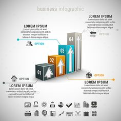 Vector illustration of business infographic made of graph. 22 icons inside file. ZIP includes free font link, EPS10and high resolu