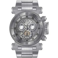 Invicta 17639 Mens Coalition Forces Silver Dial Steel Bracelet Chronograph Watch