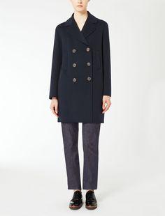 Max Mara TATIANA ultramarine: Wool and angora coat.