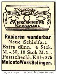 Original-Werbung/ Anzeige 1936 - MULCUTO ZWEISCHNEIDER RASIERKLINGEN / SOLINGEN - ca. 20 x 30 mm