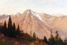 Landscape Paintings | Painting Inspiration | Painting Ideas | Thomas Hill, Mountain Of The Holy Cross