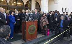 CAIR Director Nihad Awad Speaks at News Conference Outside Va. Mosque with Members of Congress in Solidarity with American Muslims.