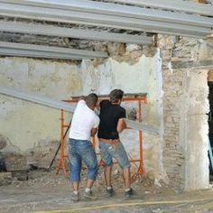 The total renovation of an old stone house total renovation of an ol. The total renovation of an old stone house total renovation of an old stone house The total renovat Old Stone Houses, Construction Process, Architect House, Classic Italian, Building, Restaurant Restaurant, Diy Tools, Concrete, Dreams