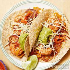 Easy Shrimp Fajitas