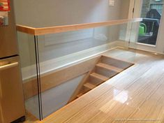 Traverse our photo gallery to view low maintenance but high quality custom fabricated glass railing solutions to decorate your home, office & outdoor spaces. Indoor Stair Railing, Staircase Railings, Curved Staircase, Glass Stairs, Glass Railing, Railing Design, Staircase Design, Iron Stair Balusters, Cheap Stair Parts