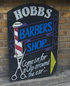Come in for a clip round the ear! Hairdressing humour! (Barber with Attitude by Dancinggecko, via Flickr)