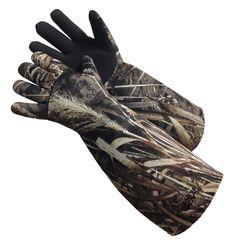 Glacier Glove *Decoy Glove-899MA* G-Tek 2mm Fleece Lined Neoprene, Waterproof, Elbow Length, Sharkskin Textured Palm