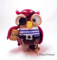 How cute is this pirate owl? Love it!  https://www.etsy.com/listing/125589159/pirate-owl-amigurumi-pdf-crochet-pattern?