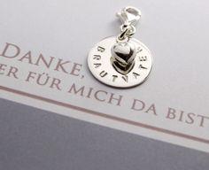 Brautschmuck - HOCHZEIT, ANHÄNGER MIT GRAVUR, 925 SILBER - ein Designerstück von…