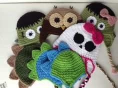 Free Crochet Character Hat Patterns | Crazy right? I can't help myself, they are just so amazing. So let ...