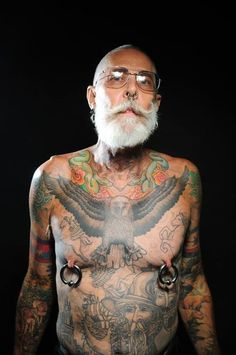 """LIVING for dude's LOTR tattoos! 17 tattooed senior citizens finally answer this question : """"What will it look like when I'm older?"""""""