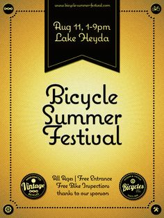 Poster for Bicycle Summer Festival by David Figula | Contest Submission for Stunner in the Summer by Veer & Ads of the World™ | Please click to vote