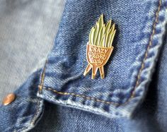 Enamel Pin Crazy Plant Lady by witandwhistle on Etsy