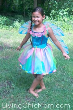 Great Pretenders Rainbow Fairy Dress Costume Review - Living Chic Mom