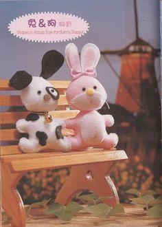 FREE Felt Puppy Dog and Bunny Rabbit Plush Toy Pattern