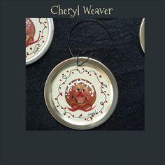Handpainted Gingerbread Ornie Peg Hanger Folk Art Primitive Country Decor. $2.00, via Etsy.
